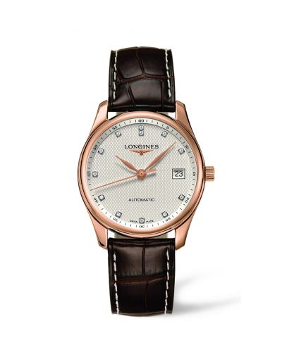 Longines L2.518.8.77.3 : Master Collection Date 36 Pink Gold Diamond
