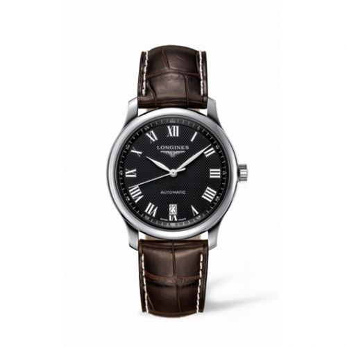 Longines L2.628.4.51.5 : Master Collection Date 38.5 Stainless Steel Black