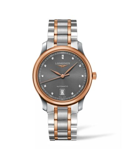 Longines L2.628.5.07.7 : Master Collection Date 38.5 Two Tone Rose / Grey