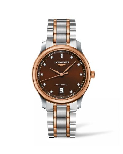 Longines L2.628.5.67.7 : Master Collection Date 38.5 Two Tone Rose / Brown