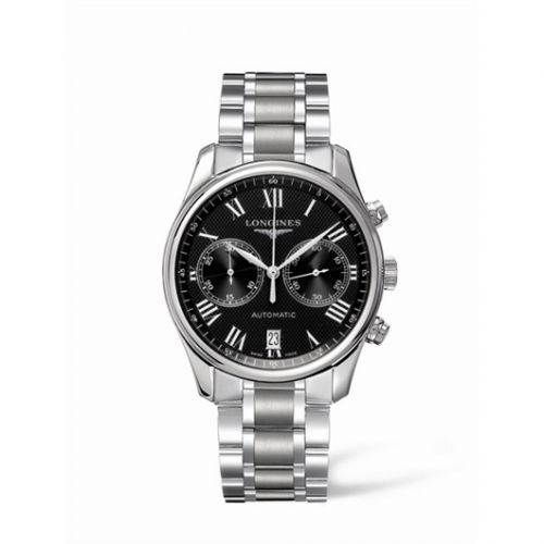 Longines L2.629.4.51.6 : Master Collection Chronograph 40 Stainless Steel / Black - Roman / Bracelet