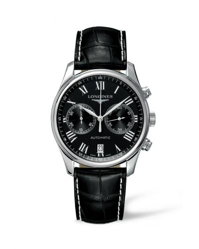 Longines L2.629.4.51.7 : Master Collection Chronograph 40 Stainless Steel / Black - Roman / Strap