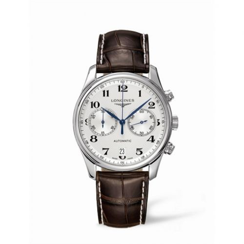 Longines L2.629.4.78.3 : Master Collection Chronograph 40 Stainless Steel / Silver / Strap