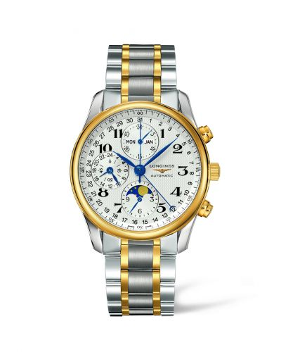 Longines L2.673.5.78.7 : Master Collection 40 Chronograph Calendar Stainless Steel / Yelllow Gold / Silver / Bracelet