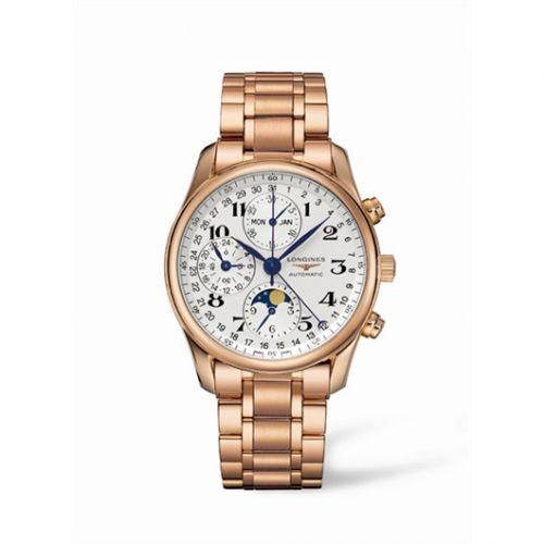 Longines L2.673.8.78.6 : Master Collection 40 Chronograph Calendar Pink Gold / Silver / Bracelet