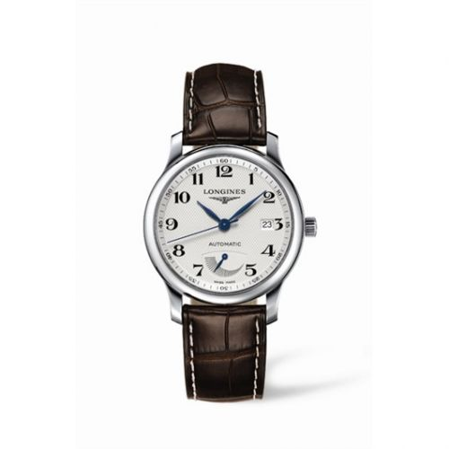 Longines L2.708.4.78.3 : Master Collection 38.5mm Power Reserve Stainless Steel / Silver-Arabic / Alligator