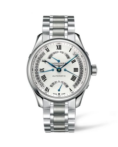 Longines L2.717.4.71.6 : Master Collection 44 Retrograde Stainless Steel / Silver-Roman / Bracelet