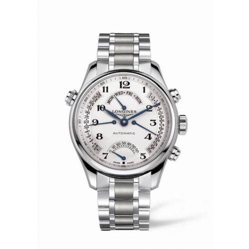 Longines L2.717.4.78.6 : Master Collection 44 Retrograde Stainless Steel / Silver-Arabic / Bracelet