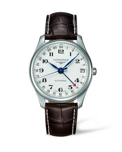 Longines L2.718.4.70.3 : Master Collection 42 24h Stainless Steel / Silver-Arabic / Alligator