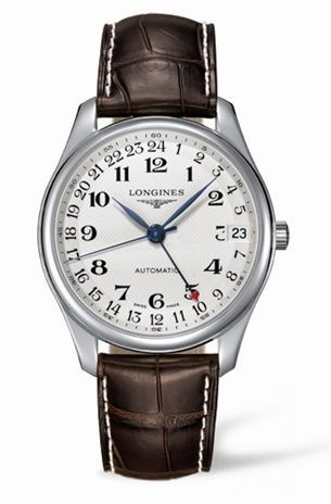 Longines L2.718.4.78.5 : Master Collection 42 24h Stainless Steel / Silver-Arabic / Alligator