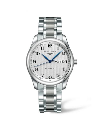 Longines L2.755.4.78.6 : Master Collection 38.5 Day Date Stainless Steel / Silver-Arabic / Bracelet