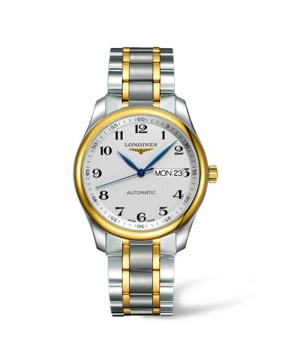 Longines L2.755.5.78.7 : Master Collection 38.5 Stainless Steel / Yellow Gold / Silver-Arabic / Bracelet