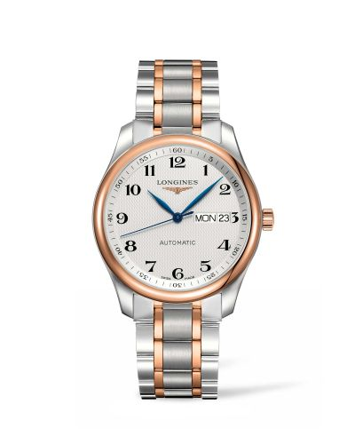 Longines L2.755.5.79.7 : Master Collection 38.5 Day Date Day Date Stainless Steel / Pink Gold / Silver-Arabic / Bracelet