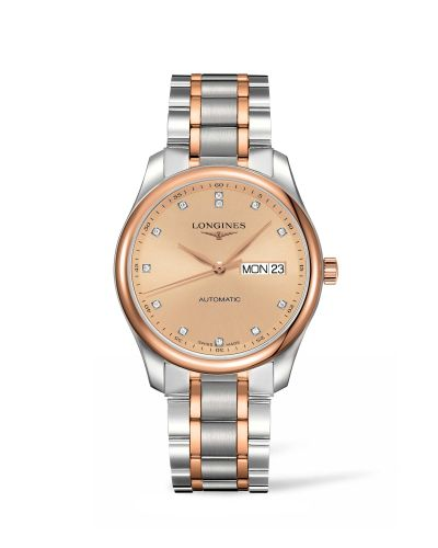 Longines L2.755.5.99.7 : Master Collection 38.5 Day Date Stainless Steel / Pink Gold / Pink-Diamond / Bracelet