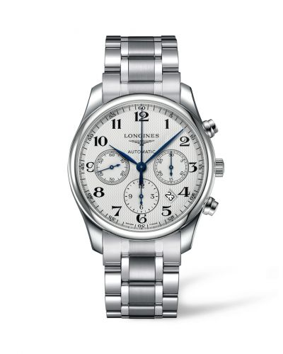 Longines L2.759.4.78.6 : Master Collection 42 Chronograph Stainless Steel / Silver-Arabic / Bracelet