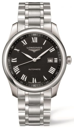 Longines L2.793.4.51.6 : Master Collection 40 Date Stainless Steel / Black Roman / Bracelet