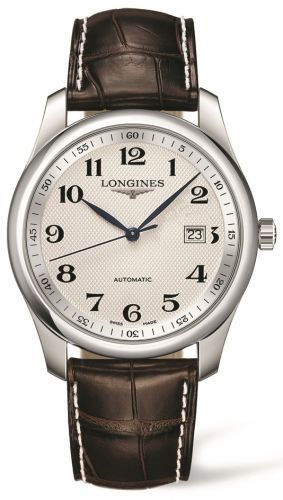 Longines L2.793.4.78.3 : Master Collection 40 Date Stainless Steel / Silver-Arabic / Alligator