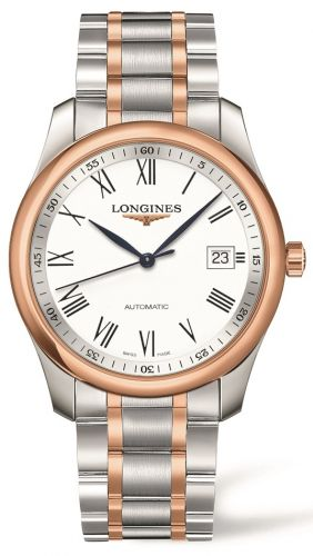 Longines L2.793.5.11.7 : Master Collection 40 Date Stainless Steel / Pink Gold / White-Roman / Bracelet