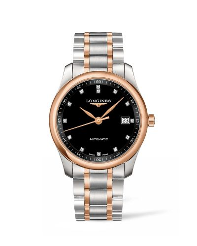 Longines L2.793.5.57.7 : Master Collection 40 Date Stainless Steel / Pink Gold / Black-Diamond / Bracelet