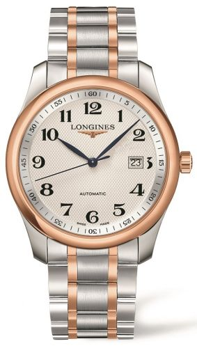 Longines L2.793.5.79.7 : Master Collection 40 Date Stainless Steel / Pink Gold / Silver-Arabic Bracelet
