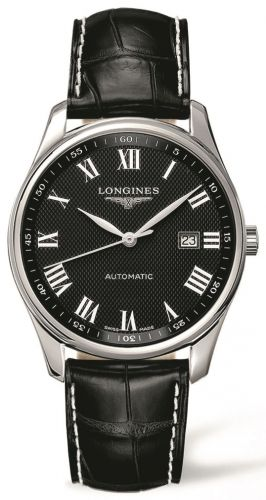 Longines L2.893.4.51.7 : Master Collection 42 Date Stainless Steel / Black-Roman / Alligator
