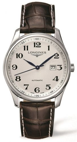 Longines L2.893.4.78.3 : Master Collection 42 Date Stainless Steel / Silver-Arabic / Alligator