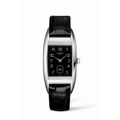 Longines L2.501.4.53.4 : BelleArti 25 Quartz Stainless Steel Black