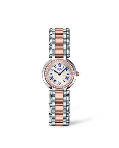 Longines L8.109.5.79.6 : PrimaLuna Quartz 23 Two Tone Pink Diamond
