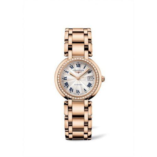 Longines L8.113.9.78.6 : PrimaLuna Automatic 30 Pink Gold Diamond