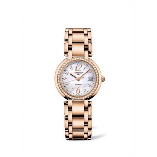 Longines L8.113.9.83.6 : PrimaLuna Automatic 30 Pink Gold Diamond Funky MOP