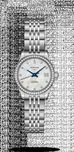 Longines L2.320.0.87.6 : Record 26mm Stainless Steel / Diamond / MOP-Diamond / Bracelet