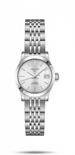 Longines L2.320.4.72.6 : Record 26mm Stainless Steel / Silver / Bracelet