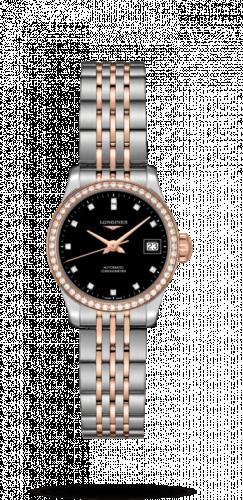 Longines L2.320.5.59.7 : Record 26mm Stainless Steel / Pink Gold / Diamond / Black-Diamond / Bracelet