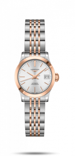 Longines L2.320.5.72.7 : Record 26mm Stainless Steel / Pink Gold / Silver / Bracelet