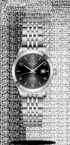 Longines L2.321.4.56.6 : Record 30mm Stainless Steel / Black-Arabic / Bracelet