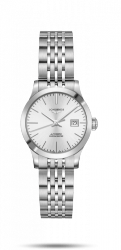 Longines L2.321.4.72.6 : Record 30mm Stainless Steel / Silver / Bracelet