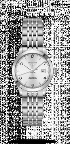 Longines L2.321.4.76.6 : Record 30mm Stainless Steel / Silver-Arabic / Bracelet