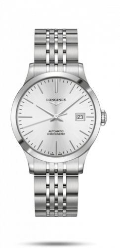 Longines L2.820.4.72.6 : Record 38.5mm Stainless Steel / Silver / Bracelet