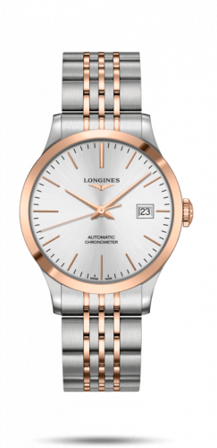 Longines L2.820.5.72.7 : Record 38.5mm Stainless Steel / Pink Gold / Silver / Bracelet