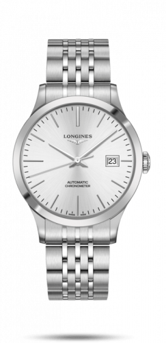Longines L2.821.4.72.6 : Record 40mm Stainless Steel / Silver / Bracelet
