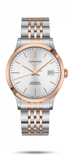 Longines L2.821.5.72.7 : Record 40mm Stainless Steel / Pink Gold / Silver / Bracelet