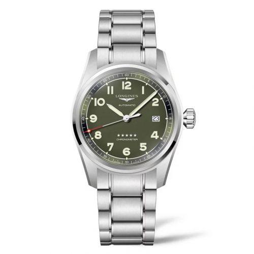 Longines L3.810.4.03.6 : Spirit Automatic 40 Green / Bracelet
