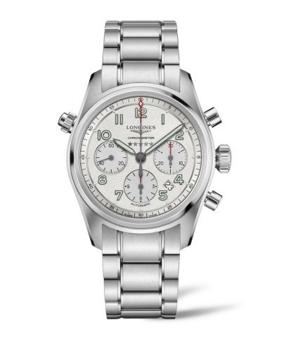 Longines L3.820.4.73.6 : Spirit Chronograph 42 Silver / Bracelet