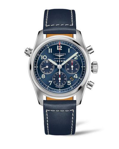 Longines L3.820.4.93.3 : Spirit Chronograph 42 Blue / Strap XL
