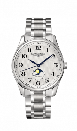 Longines L2.919.4.78.6 : Master Collection 42 Moonphase Stainless Steel / Silver-Arabic / Bracelet