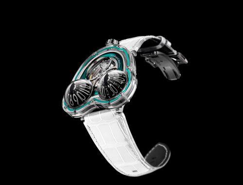 36.SVL.GR : MB&F Horological Machine N°3 HM3 Frog X Turquoise