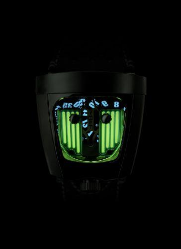 57.STGL.B : MB&F Horological Machine  HMX Black Badger Radar Green