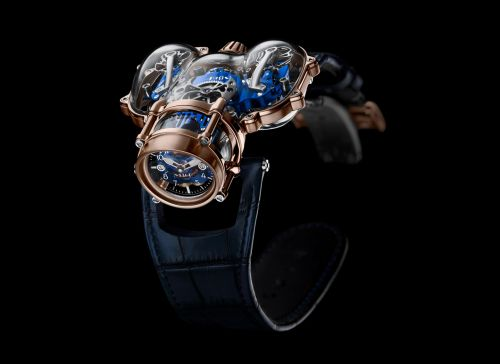 91.SRL.BU : MB&F Horological Machine N°9 HM9 Sapphire Vision Red Gold / Blue