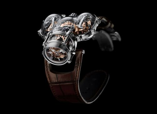91.SWL.RG : MB&F Horological Machine N°9 HM9 Sapphire Vision White Gold / Red Gold