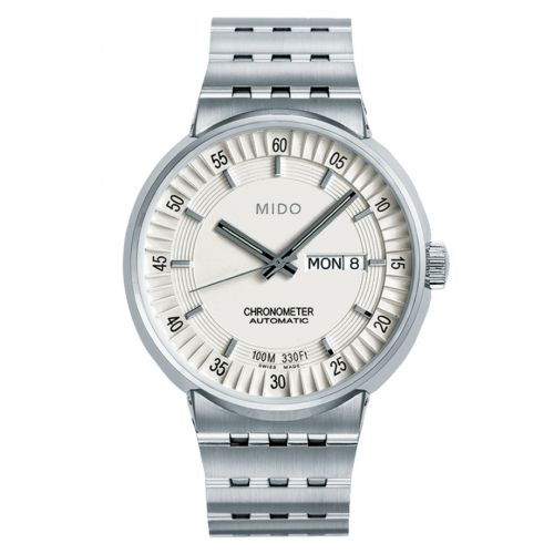Mido M8340.4.B1.11 : All Dial Chronometer Stainless Steel / Silver